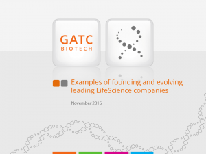Examples of founding and evolving leading LifeScience companies - Peter Pohl, GATC